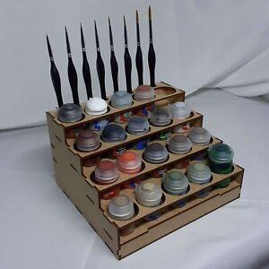 Etagère peintures Citadel 20 pots 8 pinceaux Citadel paint rack Warhammer 40K GW