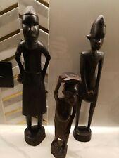lot of 3Vintage  African wood sculpture