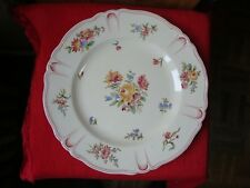 ASSIETTE FAIENCE DE LONGCHAMP DECOR FLORAL VERS 1900