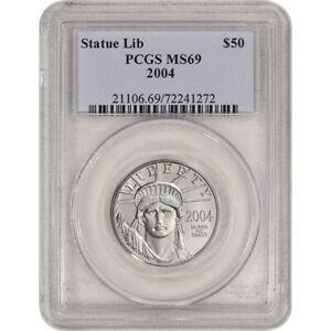 2004 American Platinum Eagle 1/2 oz $50 - PCGS MS69