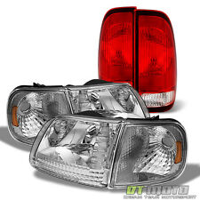 For 1997-2003 Ford F150 Headlights Headlamps w/Corner +Rear Tail Lights 97-03