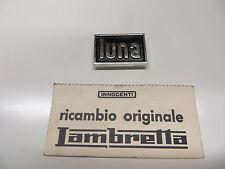 "RARE Orig.Innocenti Lambretta Luna Line / Luna Leg Shield "" LUNA"" Badge N.O.S"