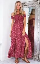 Summerdayz Floral Red Maxi Dress Size 6