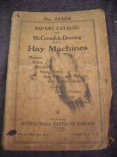 1926 No 24 Hm Mccormick Deering Hay Machines Parts Manual Mower Baler Stacker
