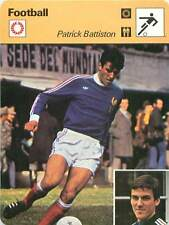 FICHE CARD: Patrick Battiston France Défenseur Defender FOOTBALL 1970s