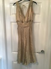 Warehouse size 6 gold sequin embellished dress going out party