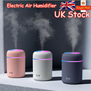 Electric Air Diffuser Aroma Oil Humidifier LED Night Light Up Home Car Diffuser