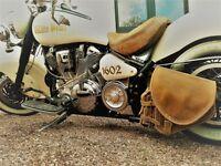 Schwingentasche Diablo hellbraun ORLETANOS Harley Softail Modelle ab 2018 neu