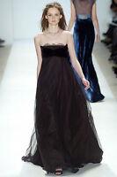 $2,000 Peter Som RUNWAY Net-a-Porter Lace Bustier Gown Long Evening Dress 2 XS