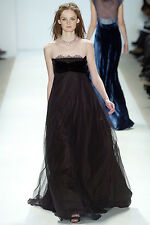 $2,000 Peter Som RUNWAY COLLECTION Lace Bustier Gown Long Evening Dress 2 XS