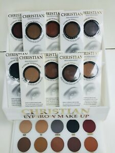 Christian Semi-Permanent Eyebrow Makeup Kit Includes Stencils,Powder and Brush