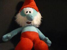 """Papa Smurf Plush Stuffed Animal Toy 19"""" Peyo 2011 Movie Soft Cuddly The Smurfs"""