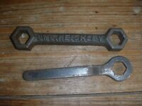 """Collectable Cast Iron Bed Spaner """"CWS. KEIGHLEY"""" And 1 Other"""