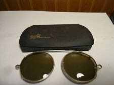 Early Vintage Bausch Rochester Ny Clip On Sun Glasses
