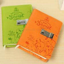 Cute Personalised Faux Leather Journal Notebook Secret Diary With Password Lock