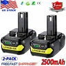 2x 18V 2.5Ah Lithium Ion Battery For Ryobi 18 Volt ONE+ P102 P104 P105 P107 P108