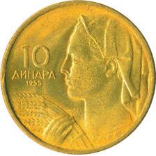 More details for coin / yugoslavia / 10 dinar 1955 bu full mint lustre  #wt6645