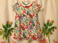 NWT Mini boden linen collar smock dress 2-3 y
