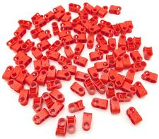 Lego Lot of 100 Red Technic Axles and Pin Connector Perpendicular Pieces