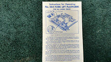 Lionel # 264 Fork Lift Platform Instructions Photocopy