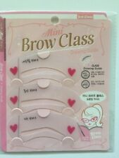 3 Eyebrow Styles Template Stencil Grooming Shaping Card Makeup Mini Brow Tools