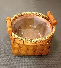 SpecialDesign Basket Wicker Basket/ Plastic Liner Planter Basket Flower Basket