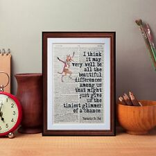 Fantastic Mr Fox Quote dictionary page art print poster literary gift quotes