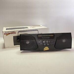 NEW Suntone Twin Speaker AM/FM Portable Radio Vintage 1997 RR5500 Collectors NIB