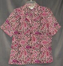 d9ce05d401bc81 DONNKENNY Classics Paisley Floral Multi-Color Short Sleeve Button Shirt S