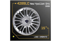 "LOT DE 4 ENJOLIVEURS 15"" POUR LANCIA NEW Ypsilon 4289LC"