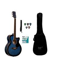 Imported Xtag Acoustic Guitars Blue Cutaway free Goodes Free Shipping