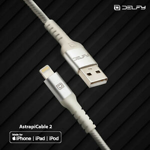 Delfy Apple Certified MFI Lightning Cable iPhone Charger 4ft Strong Aramid Fiber