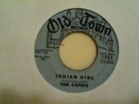 THE  CAPRIS    45  VINYL  SINGLE, THERE,S A MOON  OUT  TONIGHT / INDIAN GIRL
