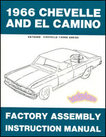 CHEVELLE 1966 CHEVROLET MANUAL FACTORY ASSEMBLY ELCAMINO BOOK RESTORATION SHOP