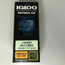 New listing Igloo Natural Ice 1 Sheet 44 Cubes Freeze And Reuses Ice Substitute