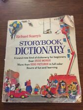 Richard Scarry's Storybook Dictionary Vintage 1966 Printed in USA