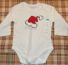 Nwt Children's Place 3-6 m Ivory L/S Shirt One piece My First 1st Christmas