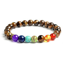 7 Chakra Bracelet with Natural Tiger Eye Beads ~ Natural Gemstone Bracelet