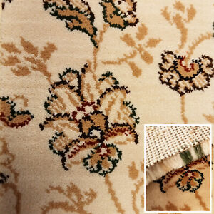 Clearance Carpet 15mm Thick Luxury Modern Wilton Action Back Home Carpets Beige