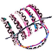 WHOLESALE - 12 Bracelets Glitter Sparkle Charm Wristband Surf  Fashion