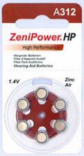60 Size 312 Zinc Air Hearing Aids/Aid Batteries
