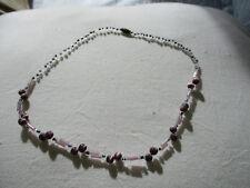 Pretty retro pinky/mauve bead necklace