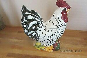 Large Ceramic Rooster Cookie Jar