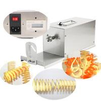 New Electric Spiral Potato Chips Twister Slicer Cutter Tornado Twist Machine  CE