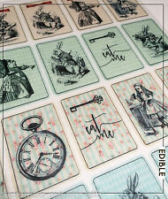 25 Alice in Wonderland STORY Edible Playing cards Cupcake  | Cake | decorations