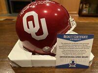 Billy Sims Autographed Riddell Oklahoma Sooners Mini Helmet Heisman 78 Beckett 2