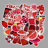 50pcs Red Stickers Girl For Hydro-Flask 50 PCS Waterproof Sticker Skateboard