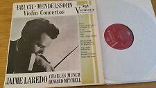 BRUCH MENDELSSOHN VIOLIN CONCERTOS - MUNCH/JAIME LAREDO - LP
