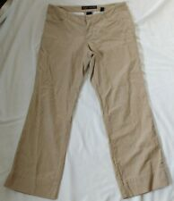 Women's Ladies Cropped Corduroy Trousers Size 6 Used Abercrombie & Fitch Beige