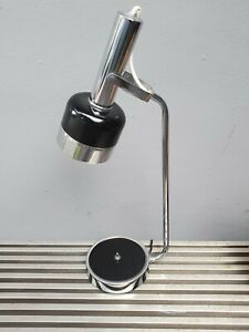 "22"" Vintage 60s Mid Century Modern Chrome Black Desk table Lamp Atomic Eame era"